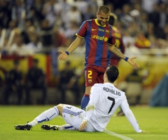 Dani Alves et Cristiano Ronaldo