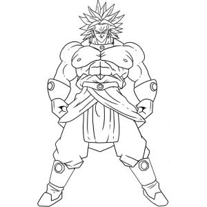 Coloriage Dragon Ball Z Broly