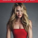 Candice Swanepoel robe rouge dans Vogue