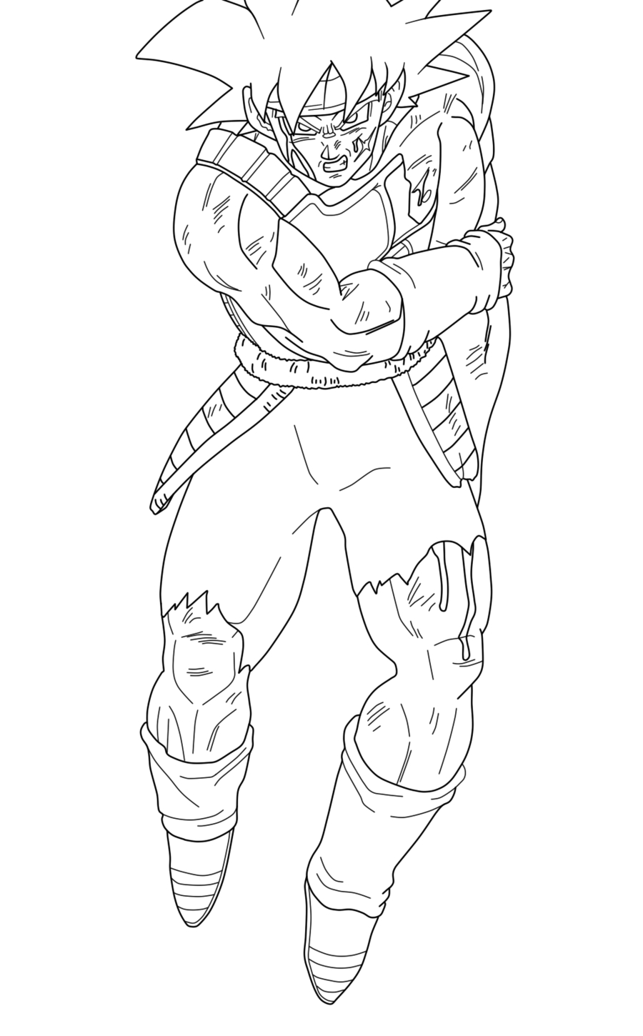 Coloriage bardock dragon ball imprimer et colorier - Dessin de dragon ball super ...