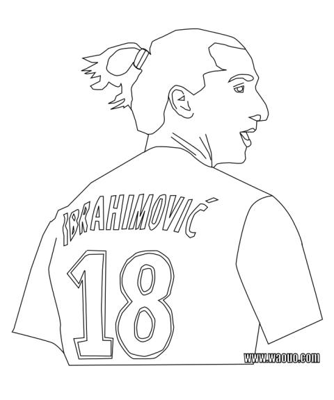 Coloriage Ibrahimovic PSG