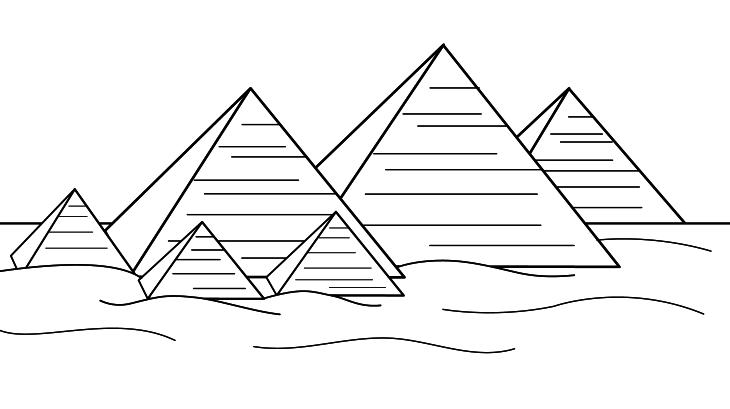 Coloriage les pyramides d egypte imprimer et colorier - Dessin de pyramide ...