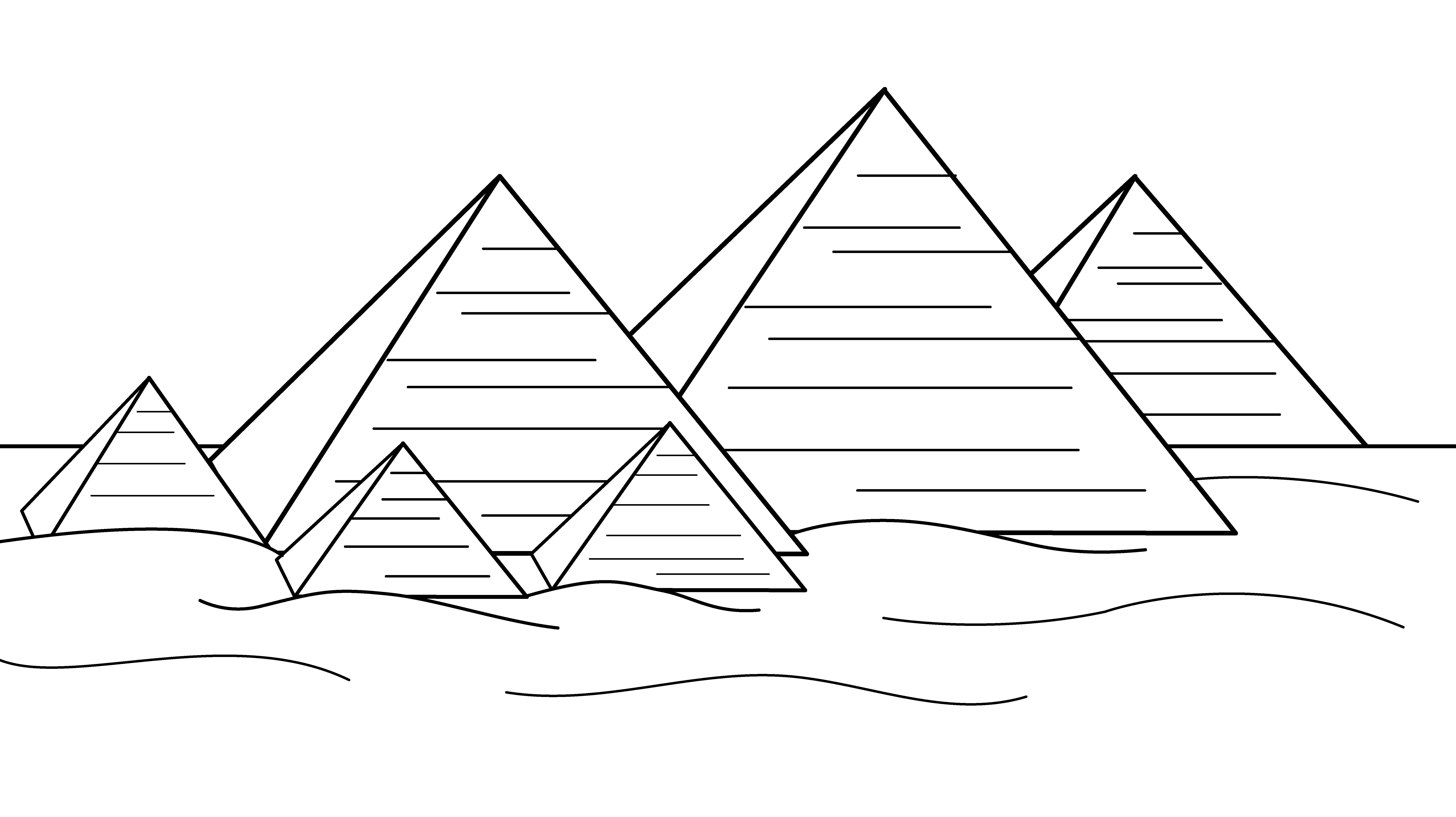 Coloriage les pyramides d egypte imprimer et colorier for Egypt coloring page
