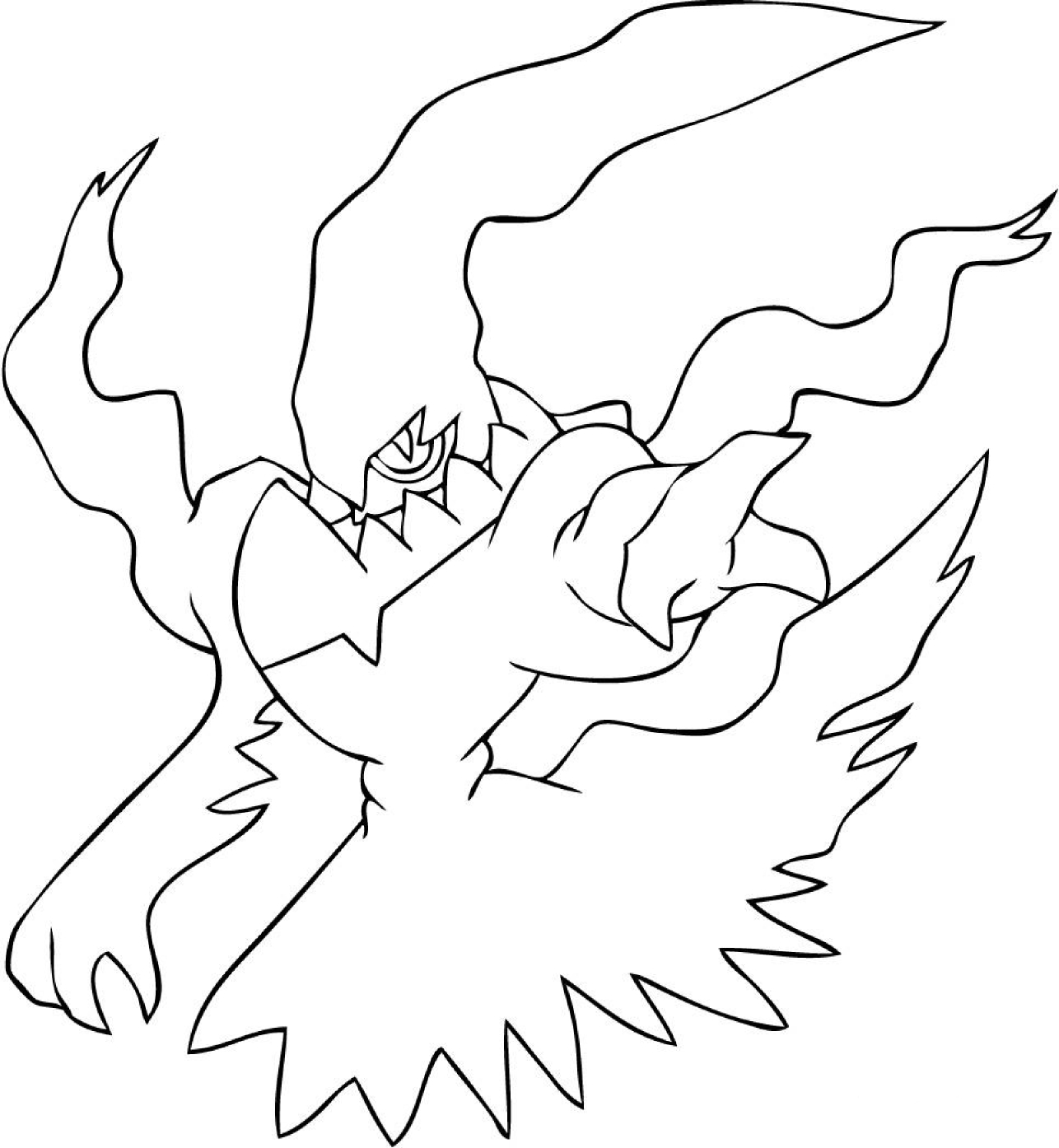 Darkrai Coloriage Darkrai Pokemon A Imprimer Et Colorier