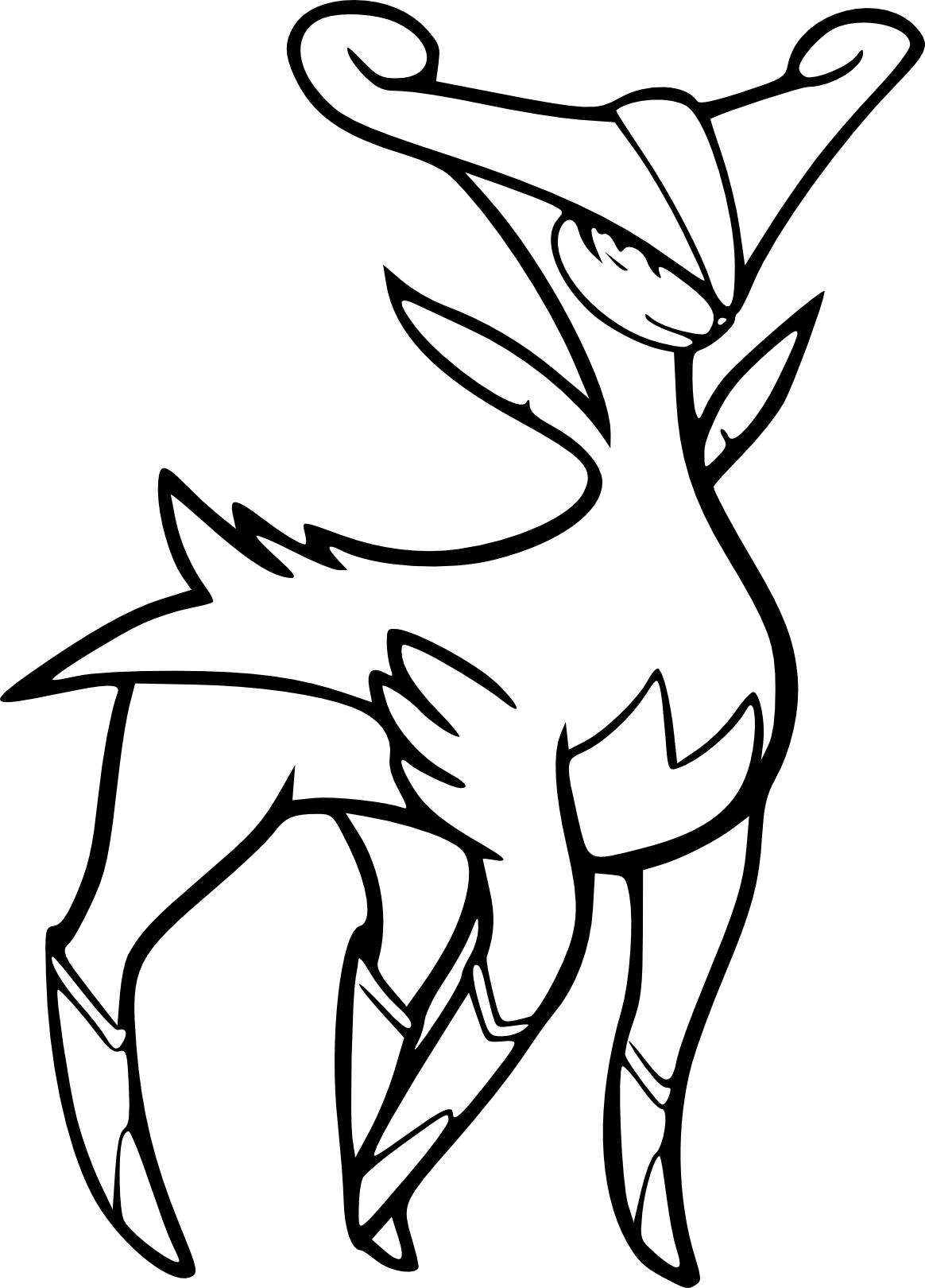 Viridium Coloriage Pokemon Légendaire à Imprimer Et Colorier