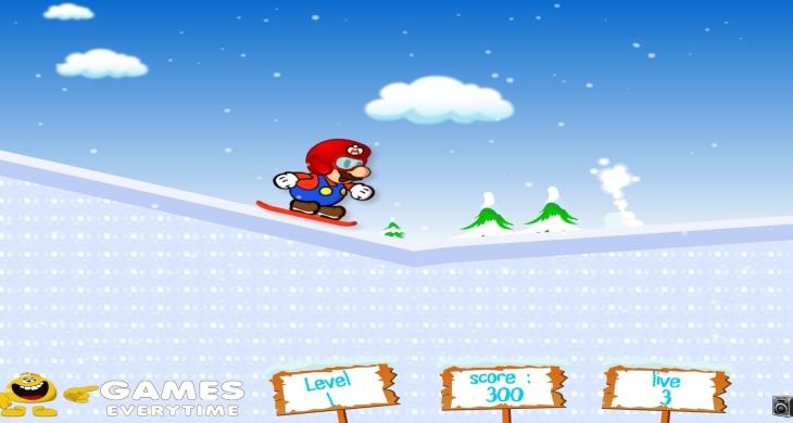Jeu de Mario ski sur glace