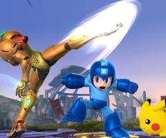 MegaMan et Pikachu dans Super Smash Bros