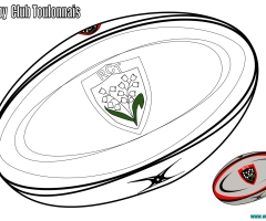 Coloriage ballon rugby Toulon