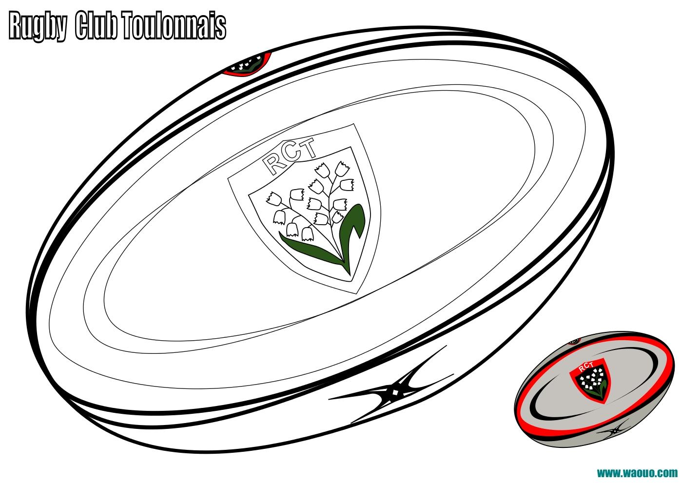 Coloriage Ballon De Rugby.Coloriage Ballon De Rugby Avec Le Rugby Club Toulonnais A