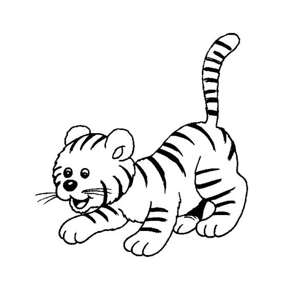 Coloriage bebe tigre