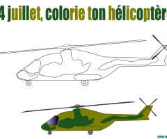 Coloriage helicoptere 14 juillet
