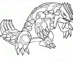 Coloriage Pokemon Groudon