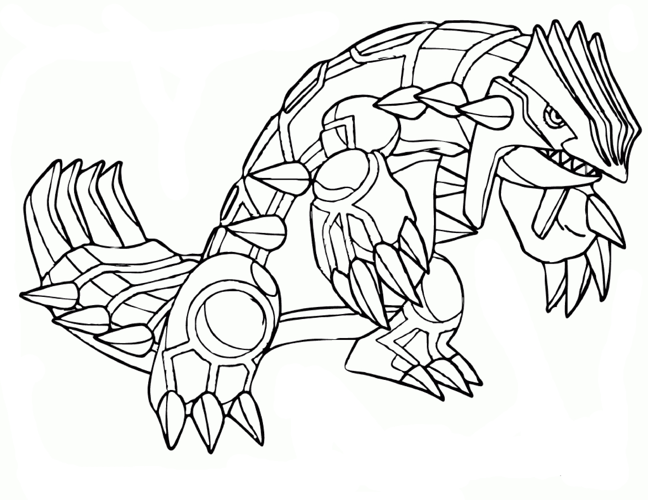 Groudon Coloriage Groudon Pokemon à Imprimer Et Colorier