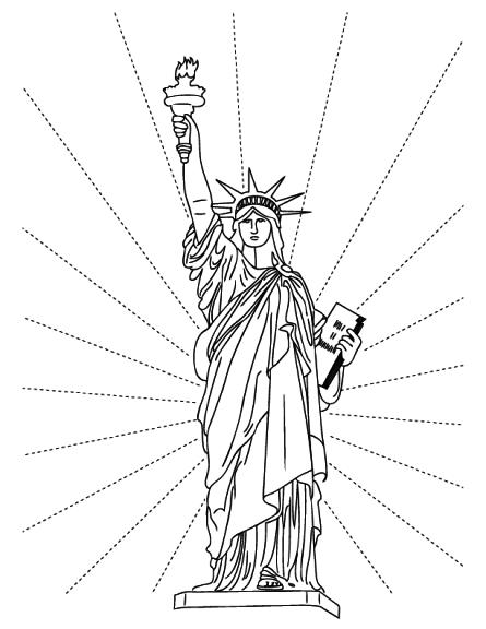 coloriage statue de la libert 233 gratuit 224 imprimer
