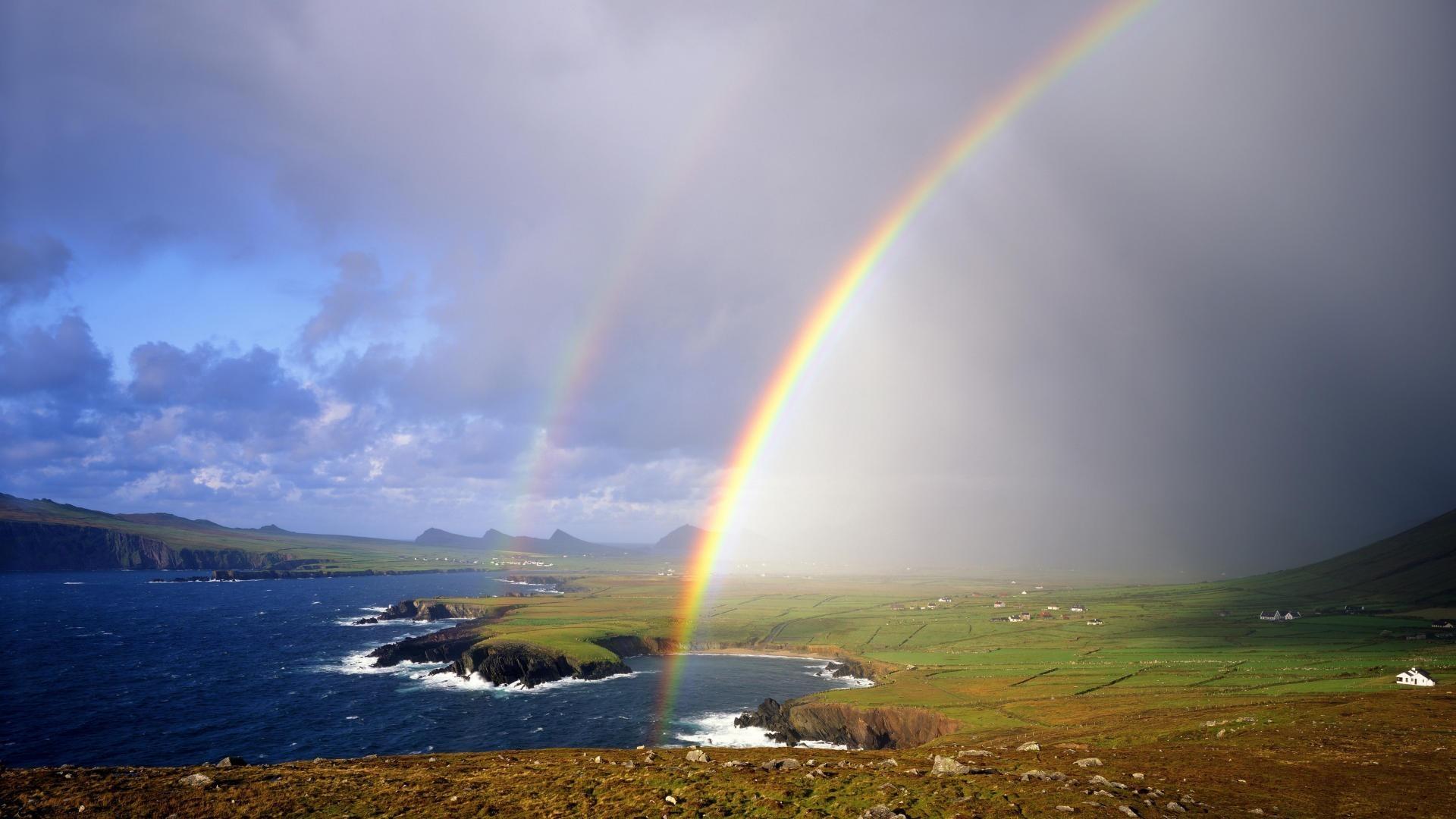 Coloriage Paysage Arc En Ciel.Coloriage Arc En Ciel Gratuit A Imprimer Et Colorier