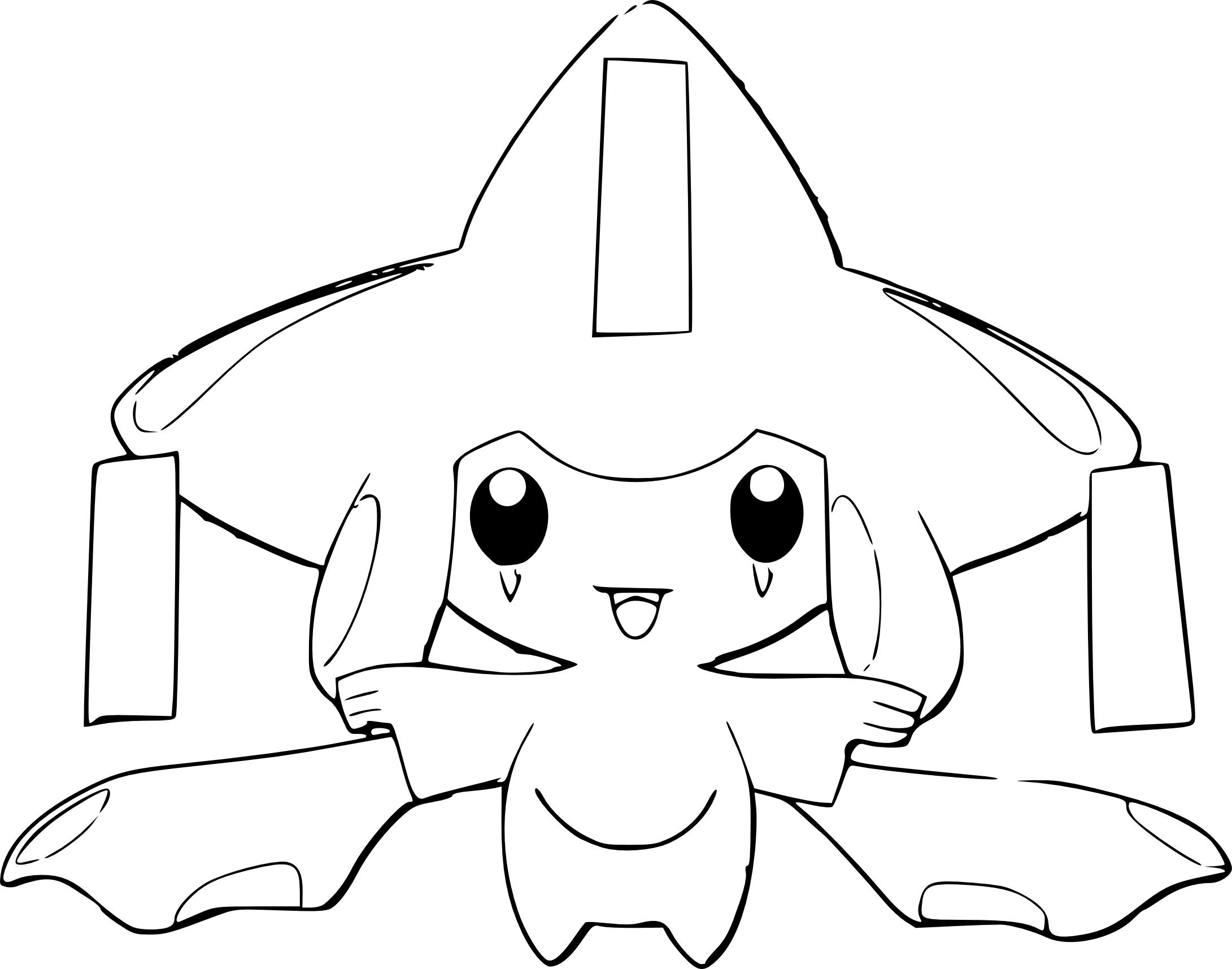Jirachi coloriage jirachi pokemon imprimer et colorier - Coloriage de pokemon x y ...