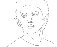 Coloriage Niall Horan