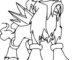 Coloriage Pokemon Entei