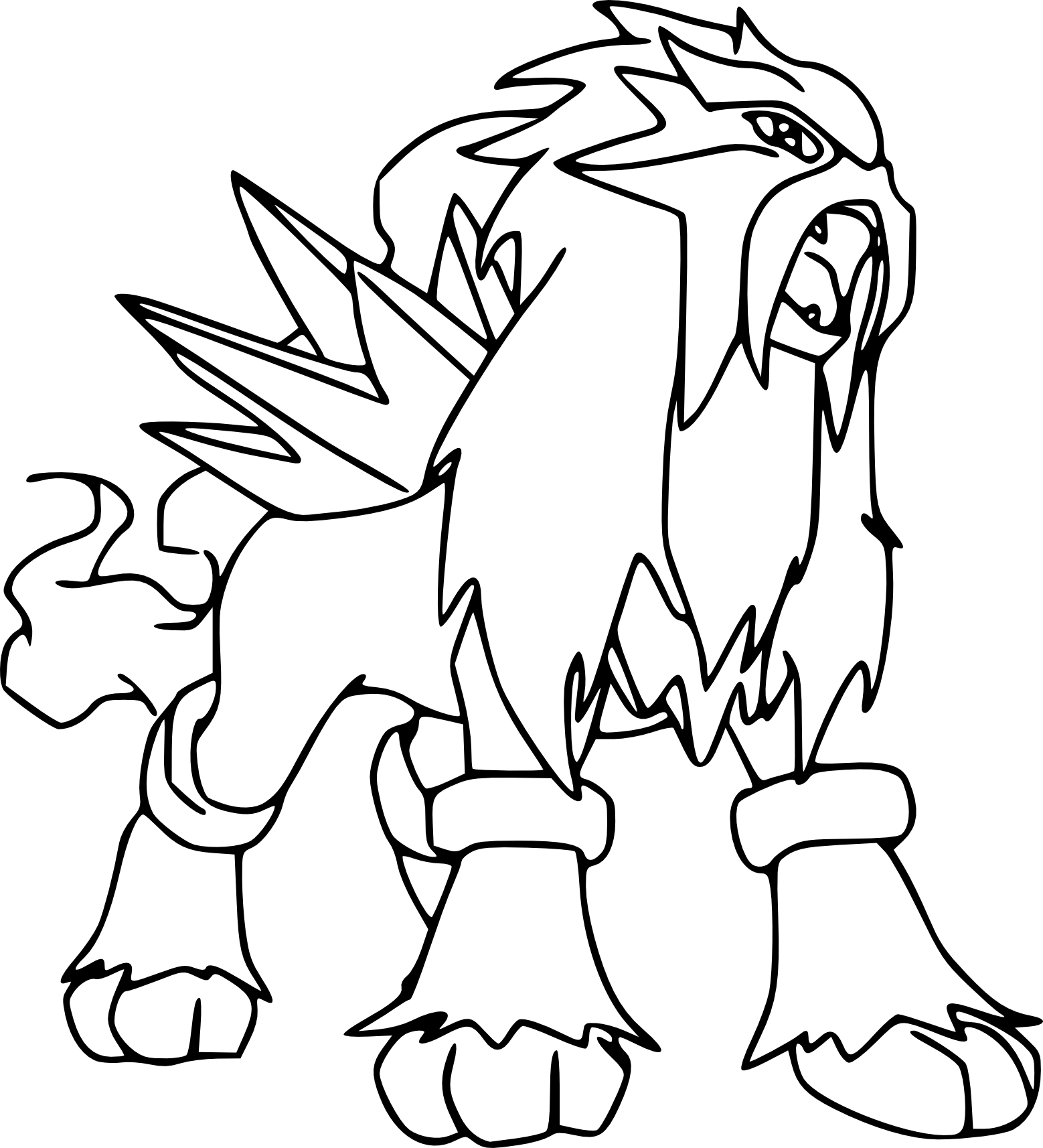 Entei coloriage entei pokemon imprimer et colorier - Coloriage pokemon legendaire a imprimer ...