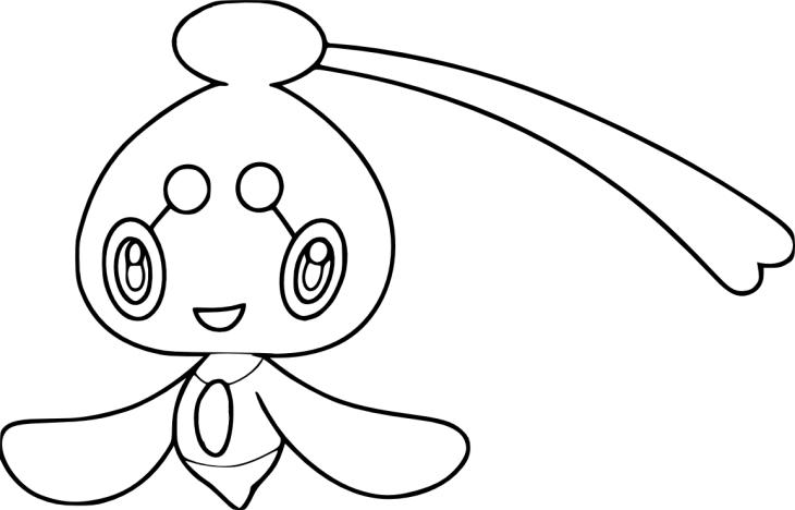 Coloriage Pokemon Phione