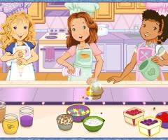 Des filles preparent des muffins