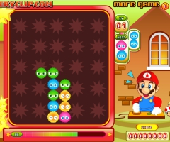 Une partie de Super Mario Bubble