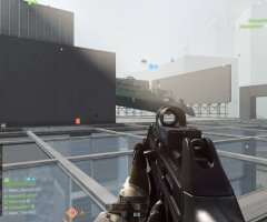BF4 beta navire sur un toit