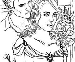 Coloriage Damon et Bonnie