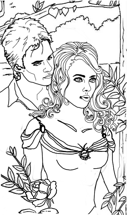Coloriage Bonnie et Damon à imprimer gratuit