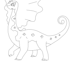 Coloriage Dragmara Pokemon