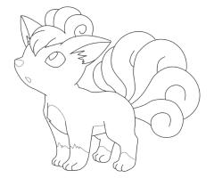Coloriage Goupix Pokemon