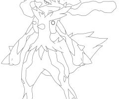 Coloriage Méga-Lucario Pokemon
