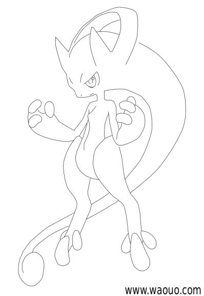 Coloriage Mega Pokemon Mewtwo