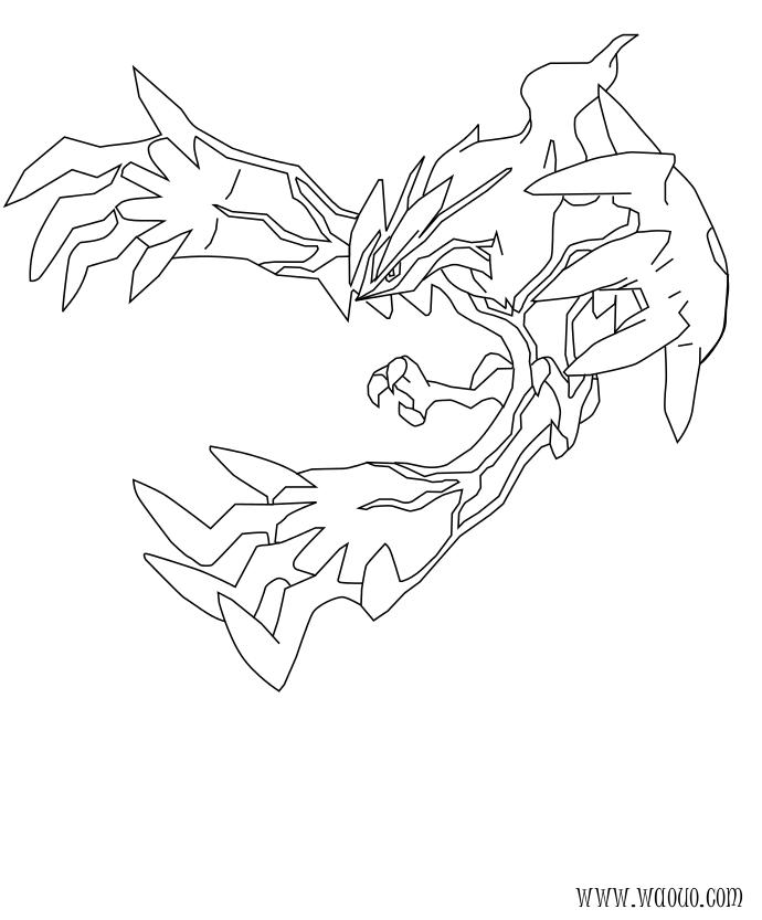 Coloriage yveltal pokemon l gendaire x et y imprimer - Pokemon x et y legendaire ...