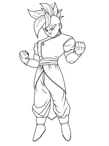 Coloriage super oub Dragon Ball Z