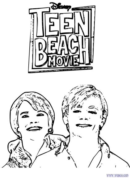 Coloriage Teen Beach Movie