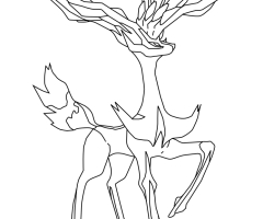 Coloriage Xerneas