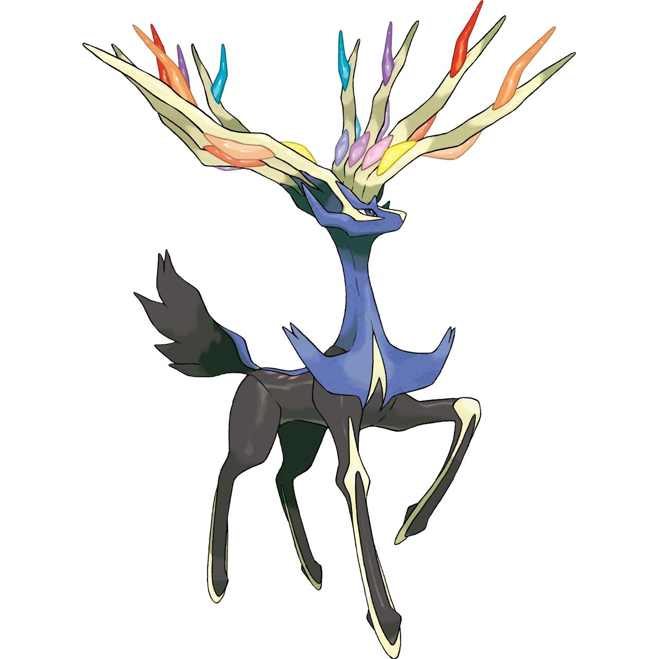 Coloriage Xerneas Pokémon Légendaire X Et Y à Imprimer