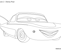Coloriage Cars 2 Flo