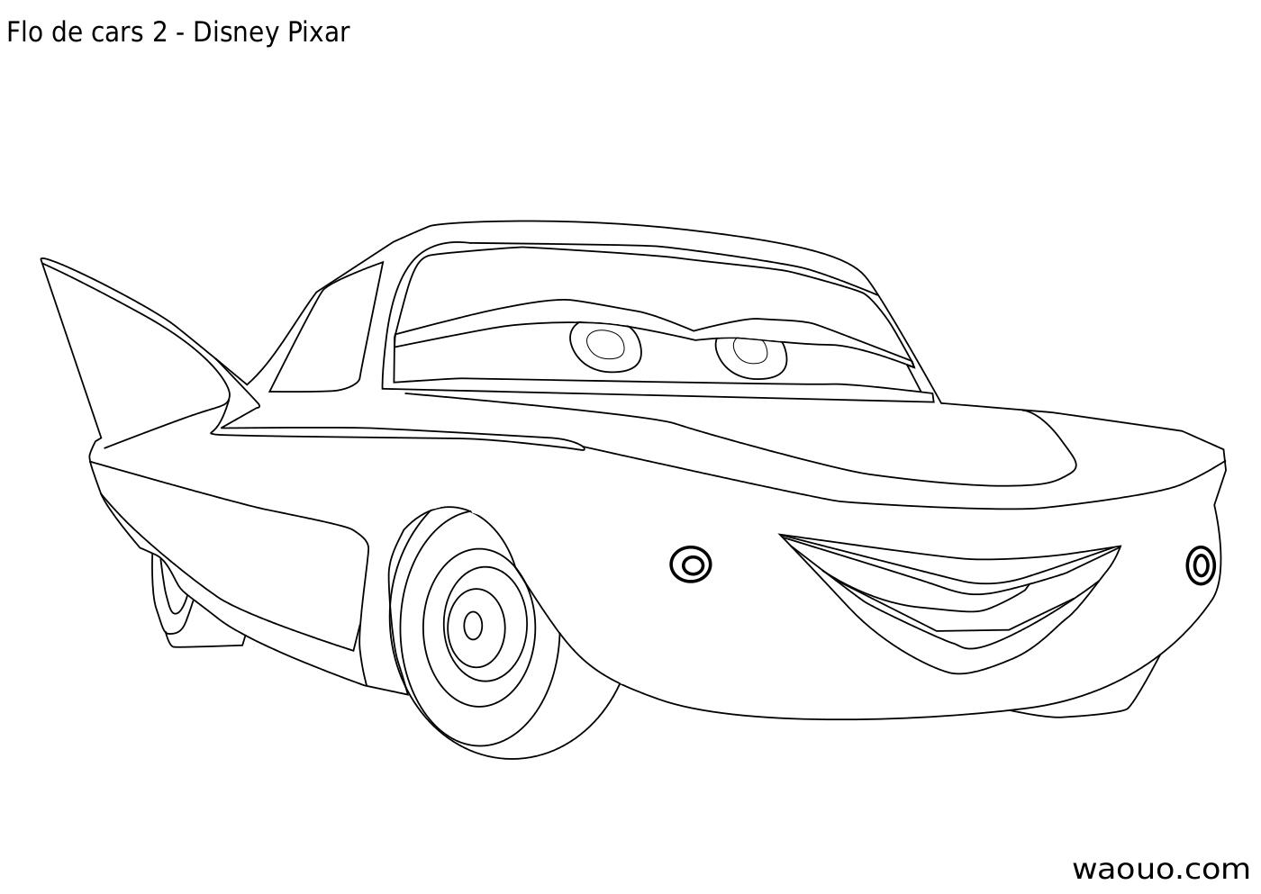 Coloriage flo cars 2 imprimer et colorier - Cars 2 coloriage ...