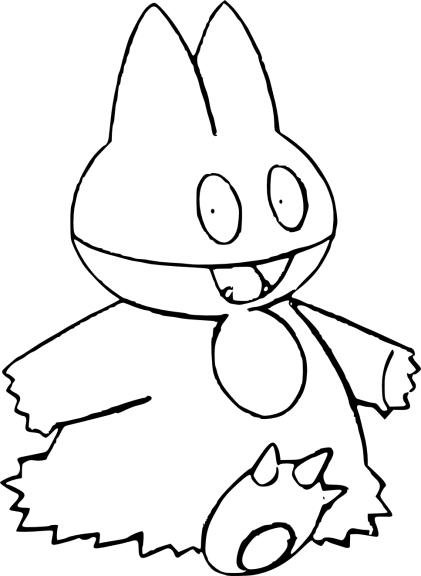 Coloriage Goinfrex Pokemon