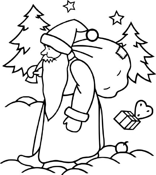 Coloriage noël et la neige