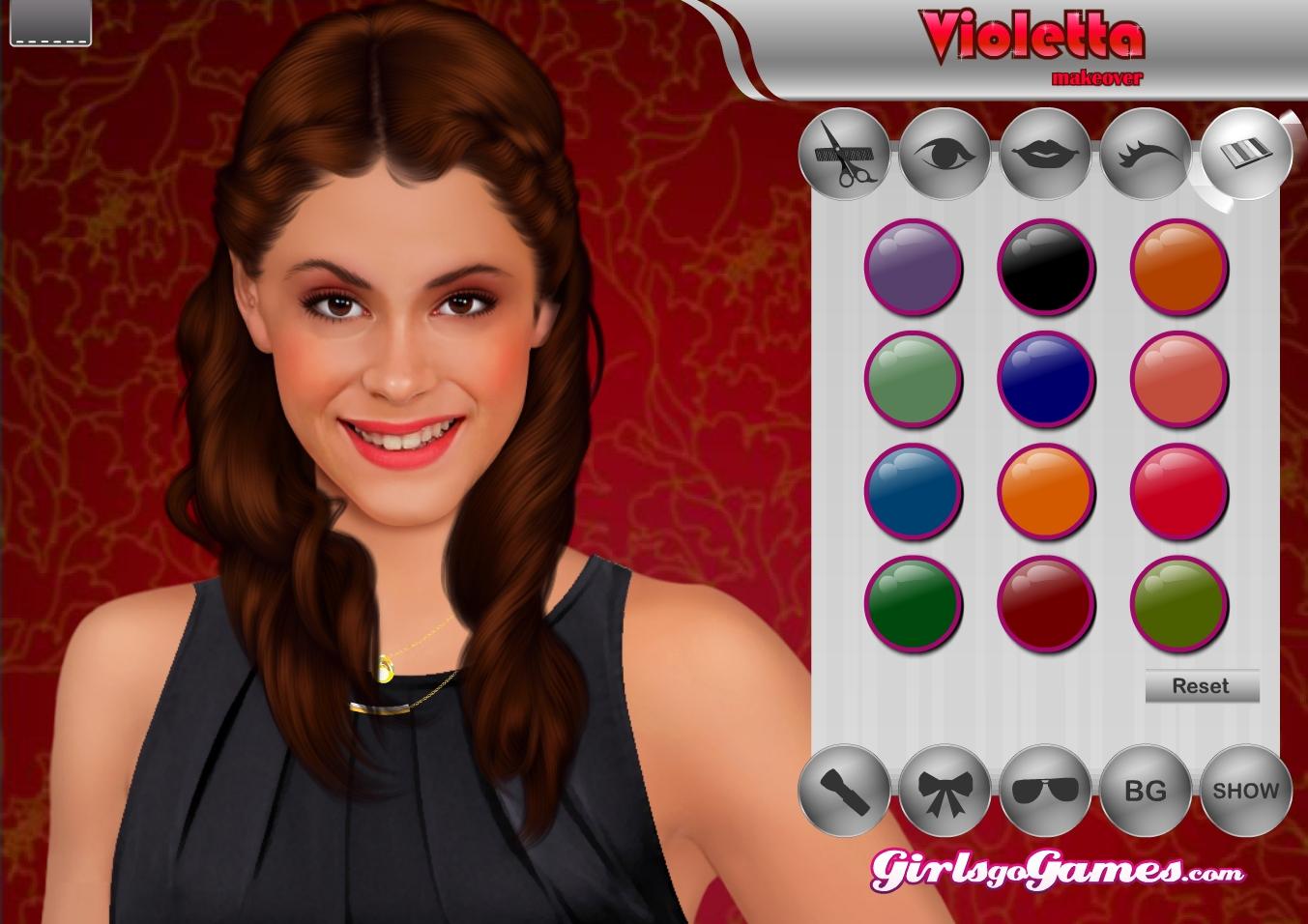 jeu violetta maquillage gratuit en ligne - Coloriage Violetta En Ligne