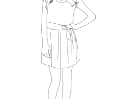Coloriage Martina Stoessel