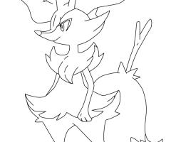 Coloriage Roussil Pokemon