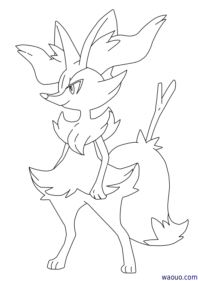 Coloriage roussil pokemon x et y imprimer - Coloriage de pokemon x y ...