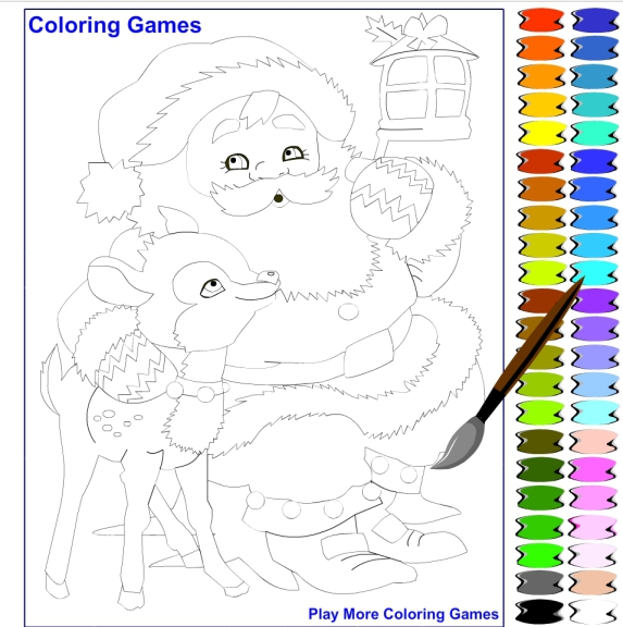 Photo du jeu coloriage pere noel