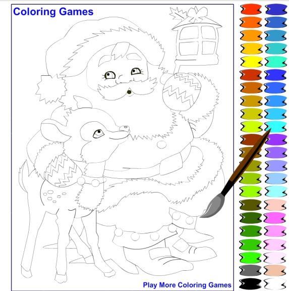Photo du jeu coloriage pere noel