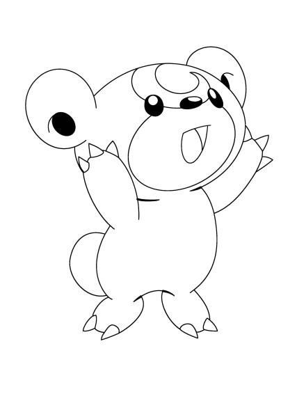 Coloriage Pokemon Teddiursa