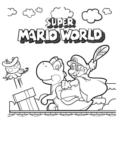 Coloriage Super Mario World